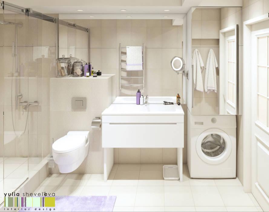 ЛЮКСЕМБУРГСКИЙ САД: Ванные комнаты в . Автор – Мастерская интерьера Юлии Шевелевой