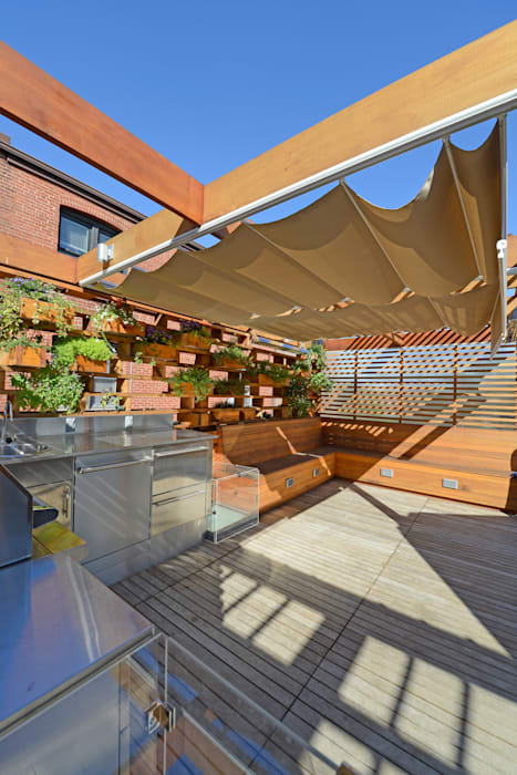 Balkon, Beranda & Teras Modern Oleh ARCHI-TEXTUAL, PLLC Modern