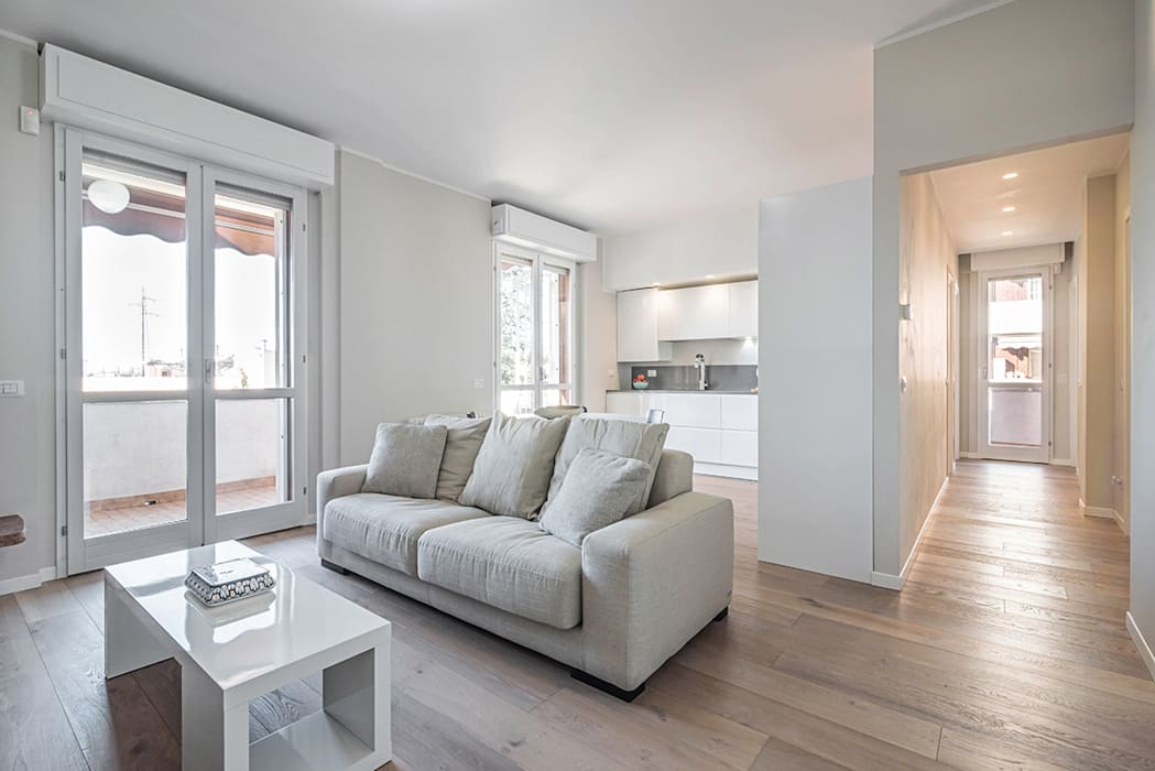 Soggiorno Moderno A Milano.Ristrutturazione Appartamento Milano Pioltello Soggiorno Moderno