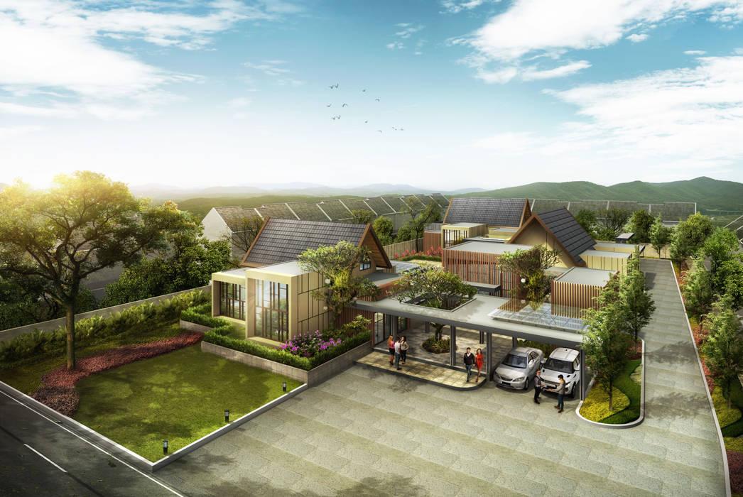HANAZAKURA HOUSE - BANJARMASIN, KALIMANTAN SELATAN IMG ARCHITECTS Rumah Modern