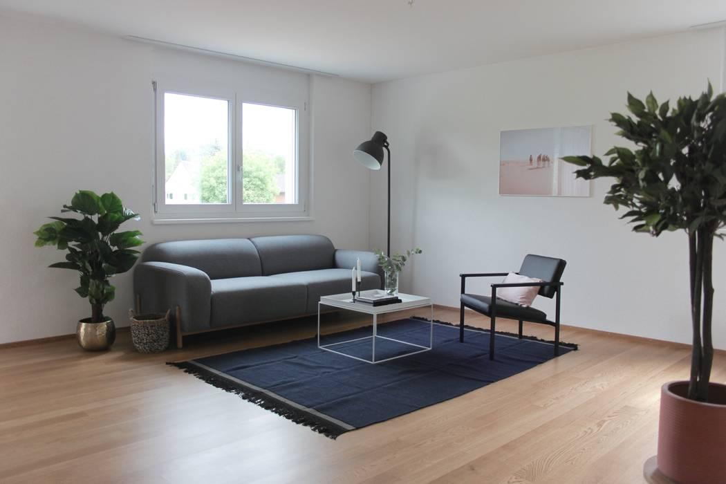 Wohnzimmer : skandinavische Wohnzimmer von Home Staging Nordisch