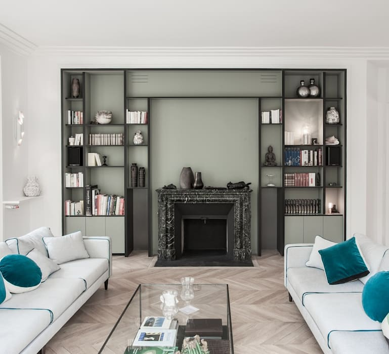 Eclairage du Salon: Salon de style de style Moderne par NEDGIS