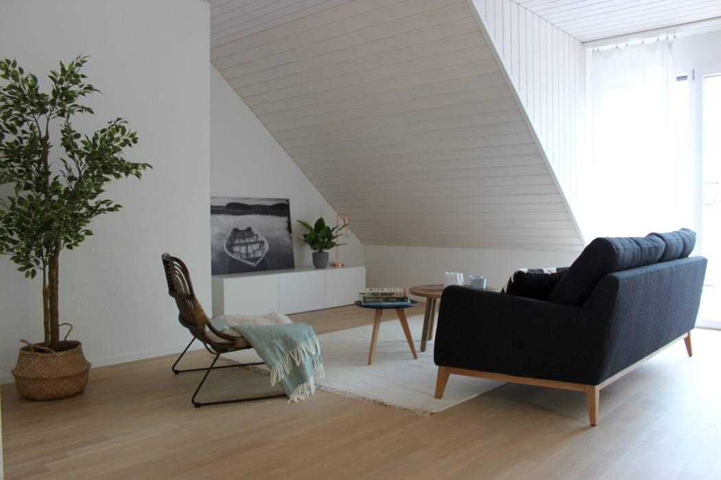 Wohnzimmer mit dachschräge skandinavische wohnzimmer von ...