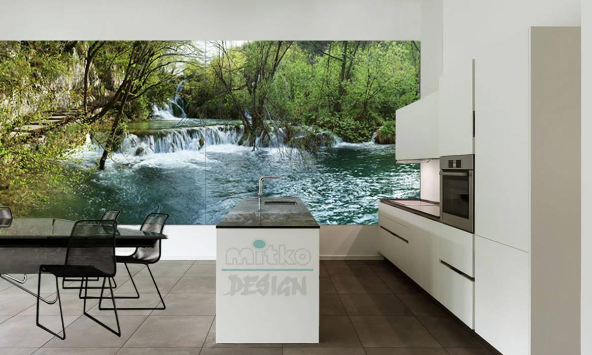 """Glasbild – xxl als """"fenster"""" in der küche moderne küchen von ..."""