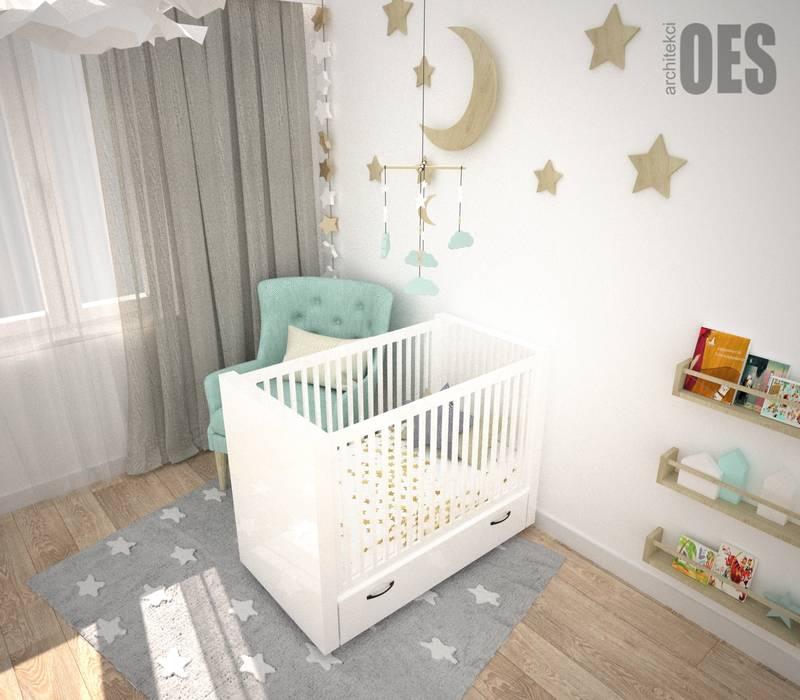 OES architekci Dormitorios infantiles de estilo moderno Madera Blanco