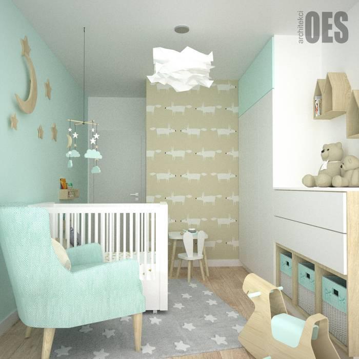 OES architekci Dormitorios infantiles de estilo moderno Madera Beige