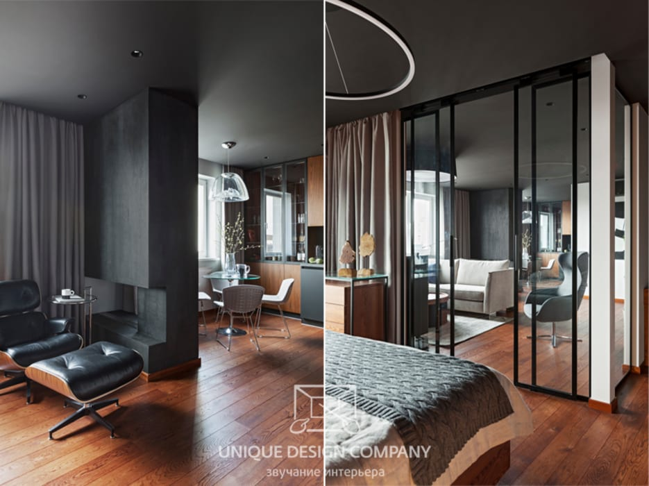 Apartment on Filimonova street Minsk Modern Bedroom by Unique Design Company Modern