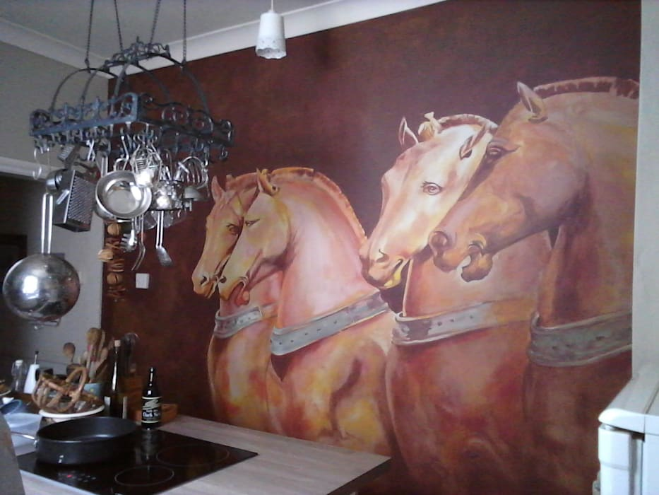 Kitchen mural:  Kitchen by worldmural