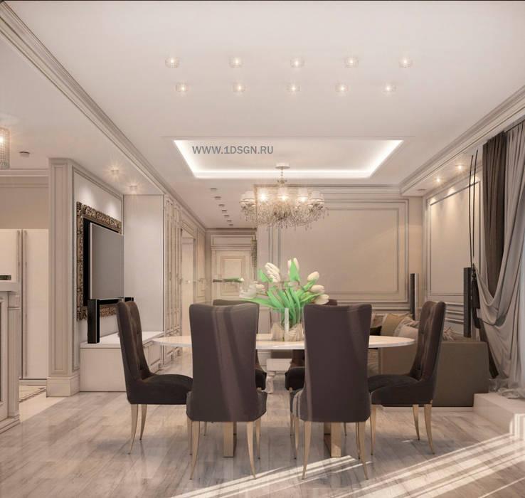 Дизайн интерьера кухни / гостиной  г. Москва: Кухни в . Автор – Дизайн студия 'Дизайнер интерьера № 1'