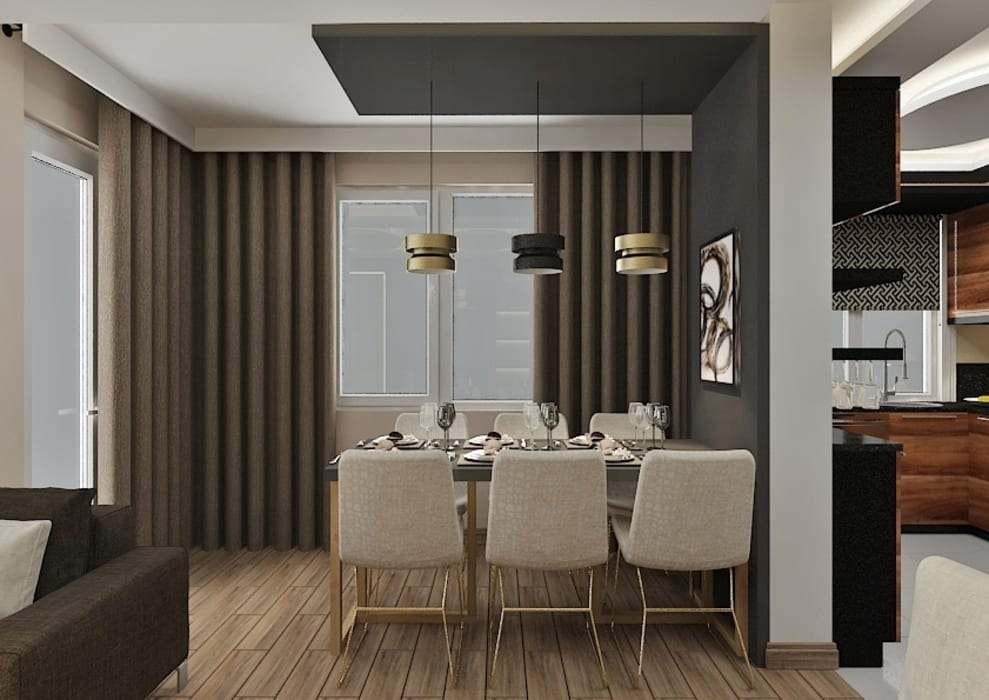 PRATIKIZ MIMARLIK/ ARCHITECTURE Modern Dining Room