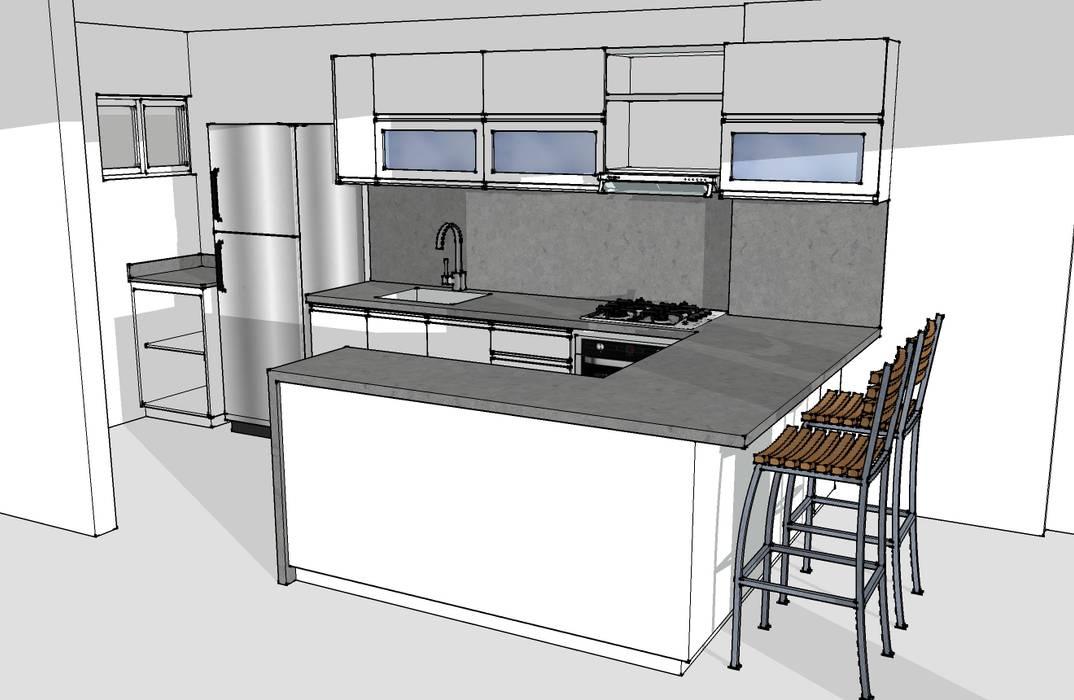 Cocina integral Cocinas modernas de Remodelar Proyectos Integrales Moderno Cuarzo