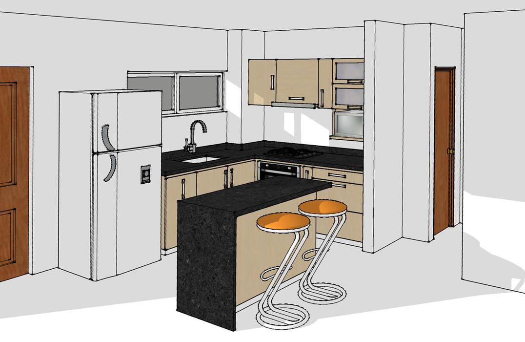 Cocina integral Cocinas modernas de Remodelar Proyectos Integrales Moderno Aglomerado
