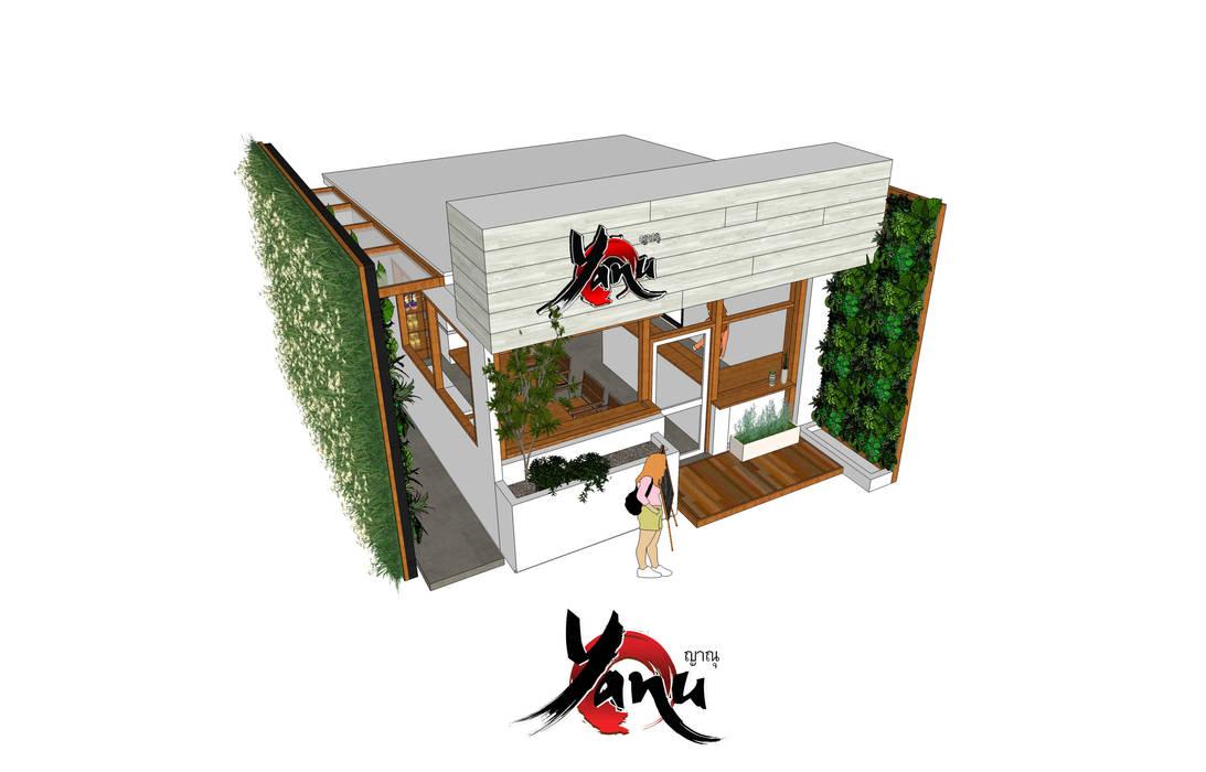 ร้านกาแฟ ญาณุ:  ร้านอาหาร โดย Identity Design & Architecture Part.,Ltd, มินิมัล