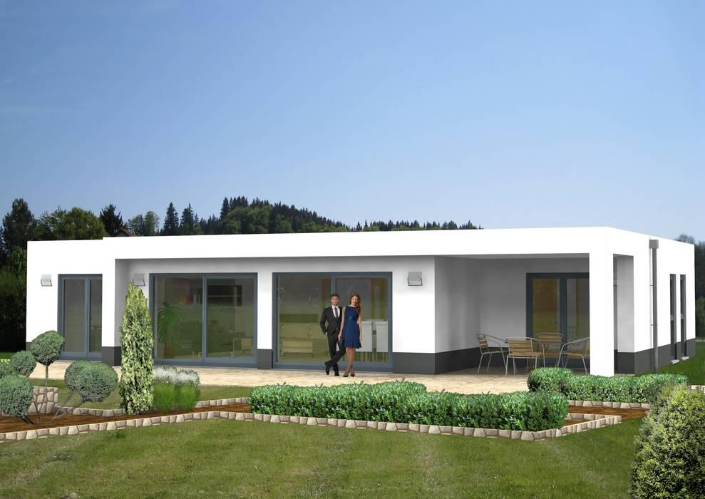 SI-Chalet 120: Bauhausstil trifft barrierefreien Bungalow:  Bungalow von SI-Massivhaus