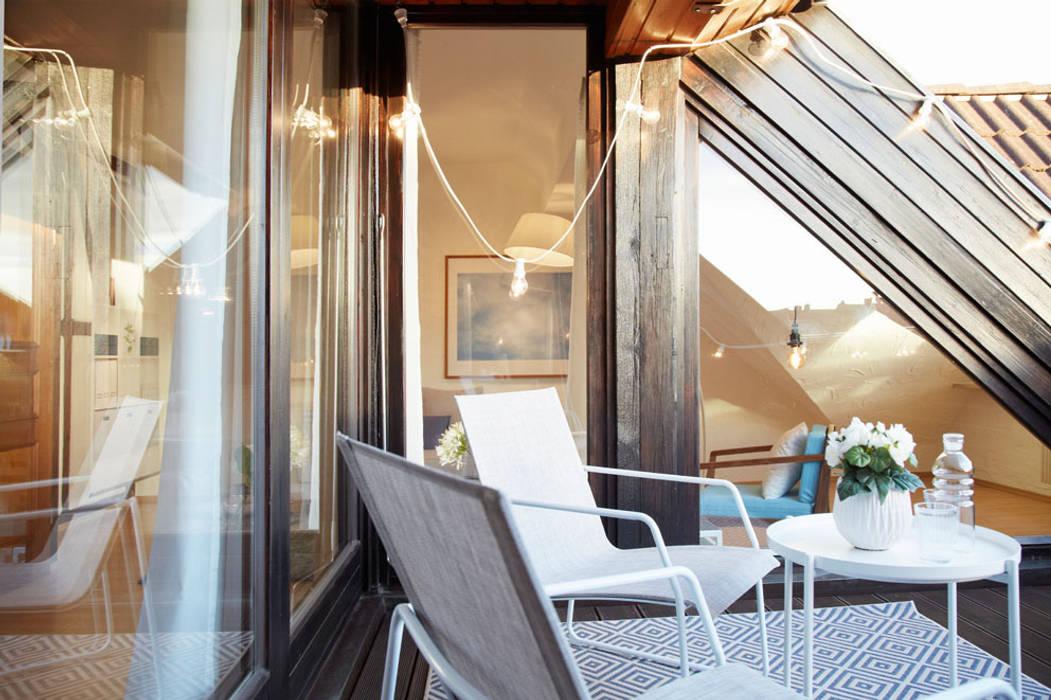 Romantische Dachterrasse Mit Schoner Beleuchtung Terrasse Von Home