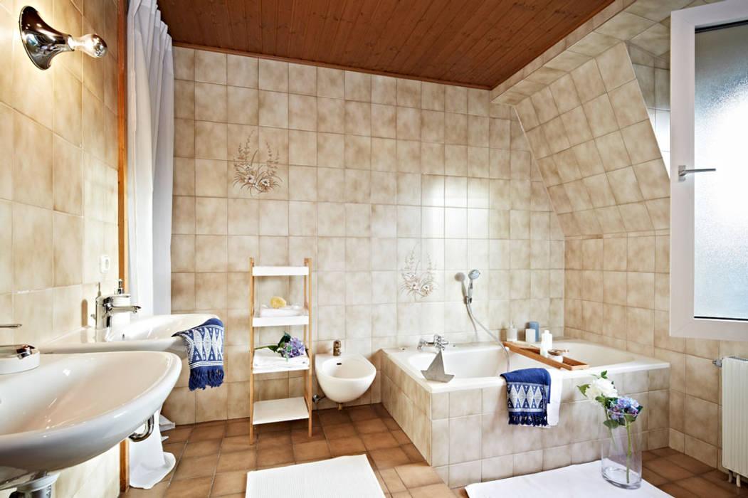 Badezimmer, modern trotz älterer fliesen rustikale ...