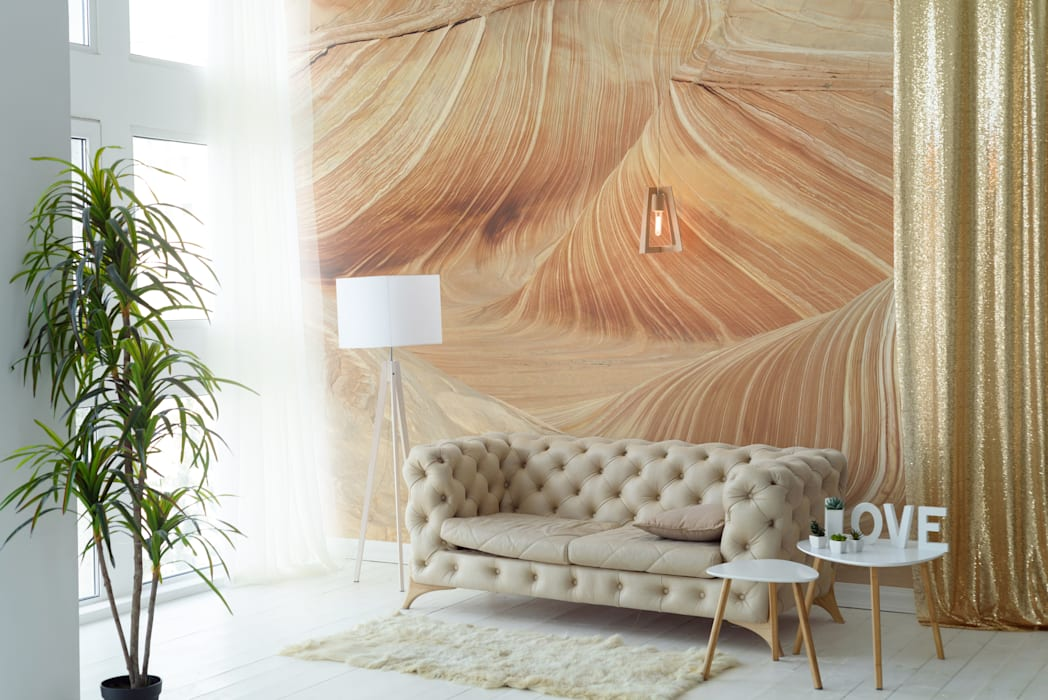 Golden Sands: colonial Living room by Pixers
