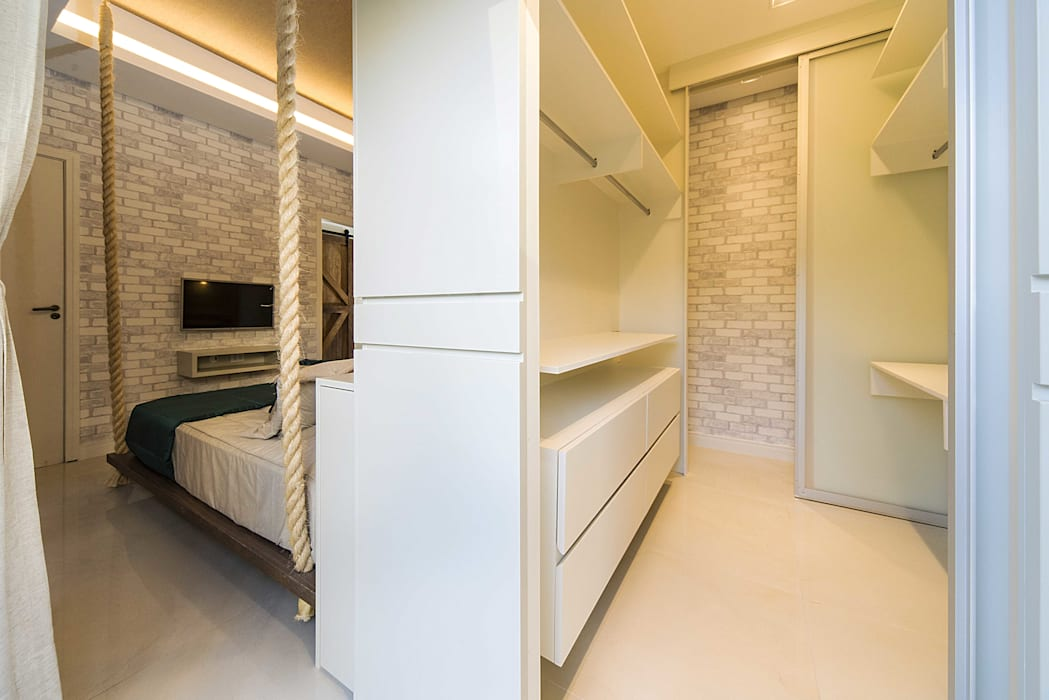 Dormitório Quartos modernos por Fernanda Patrão Arquitetura e Design Moderno