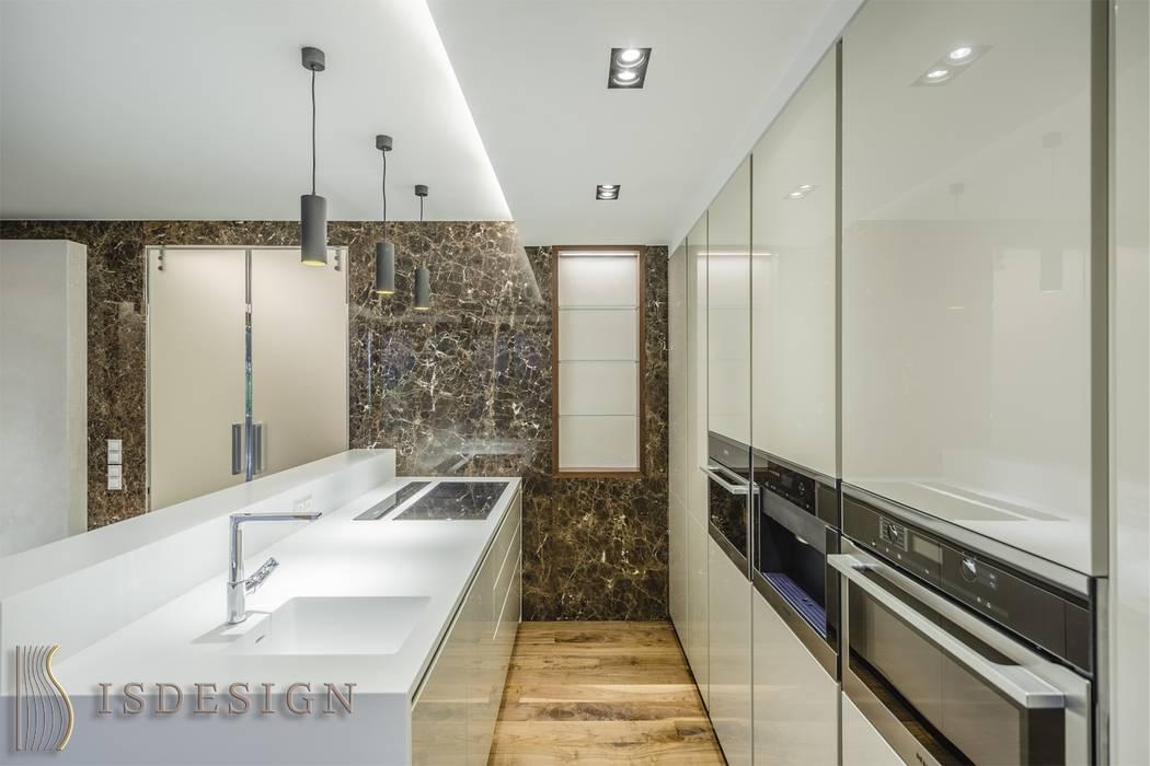 Гостина - зона кухни: Встроенные кухни в . Автор – ISDesign group s.r.o.