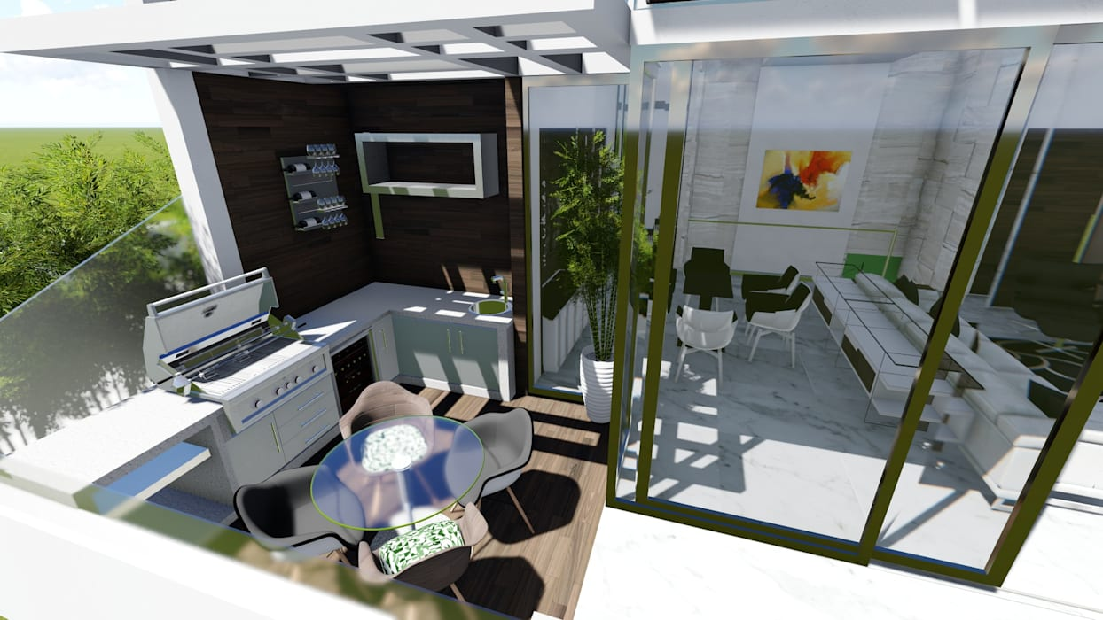 Varandas, marquises e terraços modernos por homify Moderno Betão