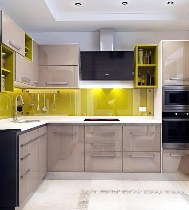 Дизайн 2к.кв. в ЖК Черемушки 2 (74 кв.м.): Кухни в . Автор – ДизайнМастер