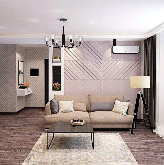 Дизайн 2к.кв. в ЖК Черемушки 2 (74 кв.м.): Гостиная в . Автор – ДизайнМастер