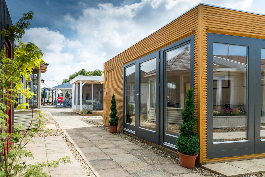 Linea Contemporary Garden Room with storage by Garden Affairs Ltd Modern Wood Wood effect