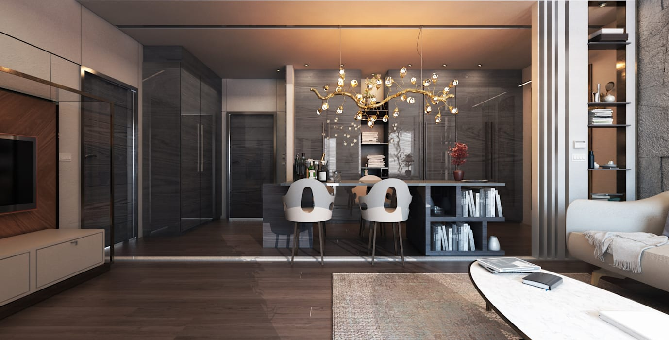 El Daou Apartment:  Living room by GOWS architects