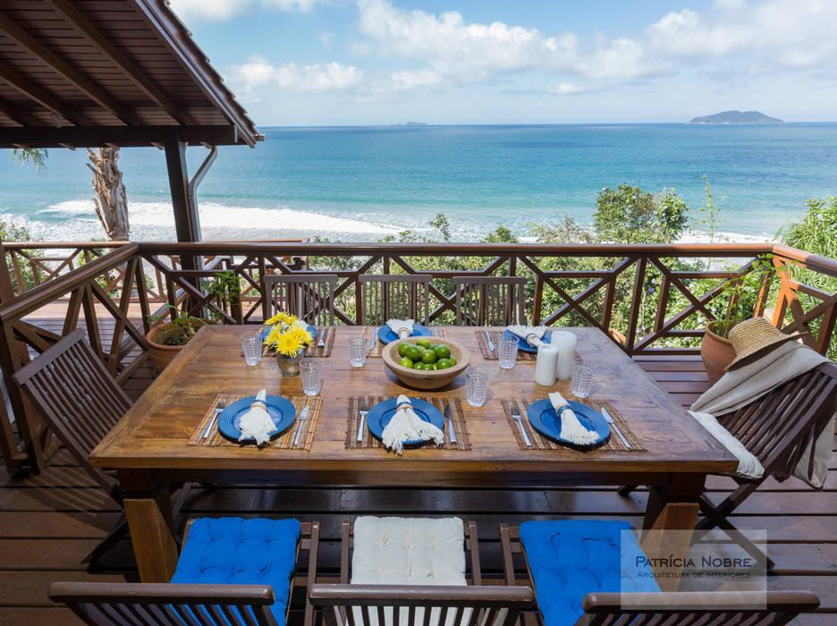 Terraço Casa de Praia - Por Patrícia Nobre Patrícia Nobre - Arquitetura de Interiores Varandas, alpendres e terraços mediterrâneo Azul