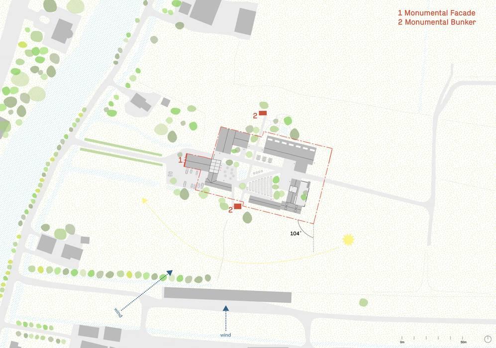 Situatietekening van Kevin Veenhuizen Architects