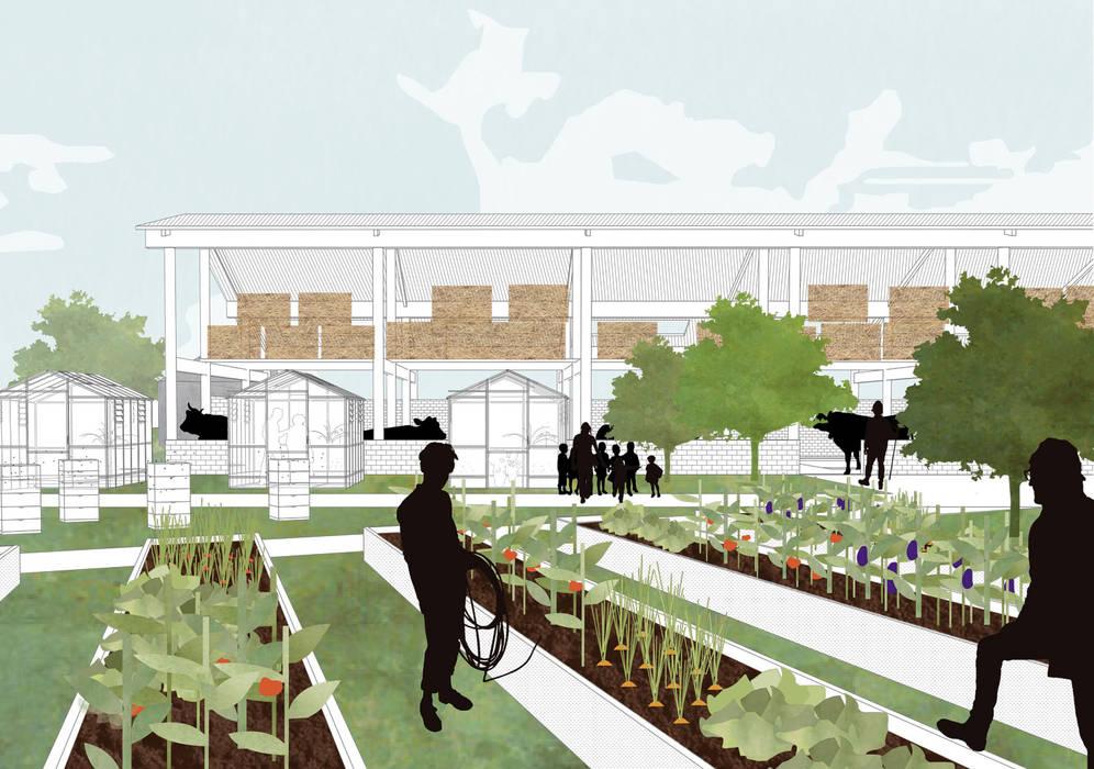 Stallen met groente en fruit tuin:   door Kevin Veenhuizen Architects