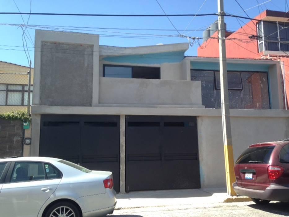REMODELACION Y AMPLIACION CASA SIERRA 47 FACHADA DESPUES DE LA INTERVENCION DE JLSG ARQUITECTO JLSG Arquitecto
