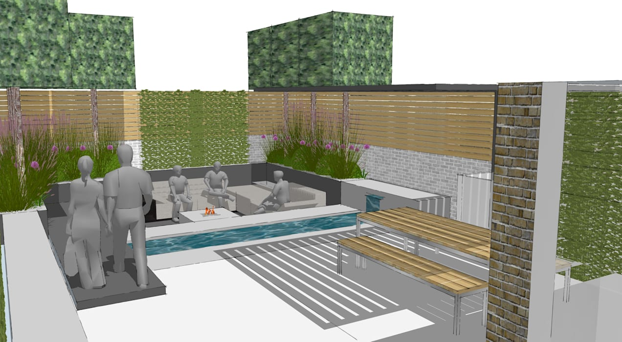 Rutland Gate Knightsbridge Roof Terrace:  Commercial Spaces by Aralia