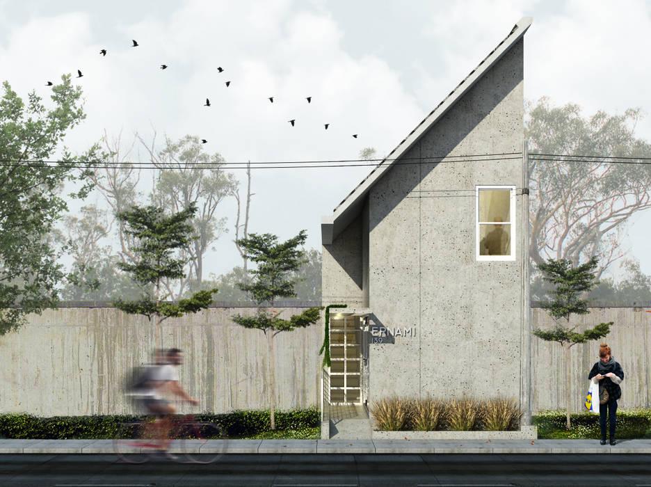Tampak Depan Bangunan Oleh SODA Indonesia Modern Beton