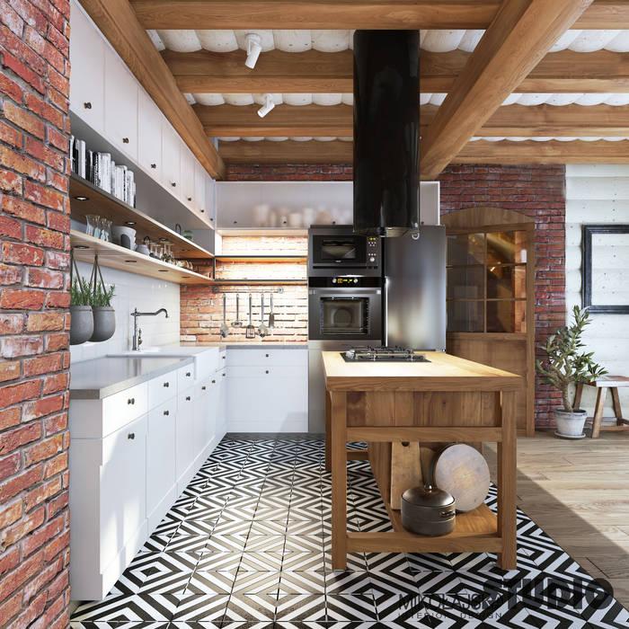 nowoczesna kuchnia: styl , w kategorii Kuchnia zaprojektowany przez MIKOŁAJSKAstudio