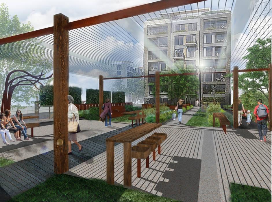 Chelsea Creek Public Realm Concept:  Commercial Spaces by Aralia