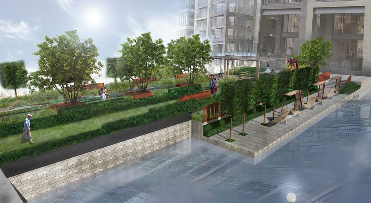 Chelsea Creek Public Realm Concept:  Commercial Spaces by Aralia
