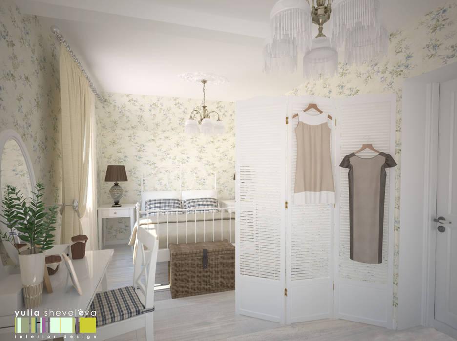 В СТИЛЕ ШЕББИ ШИК : Спальни в . Автор – Мастерская интерьера Юлии Шевелевой