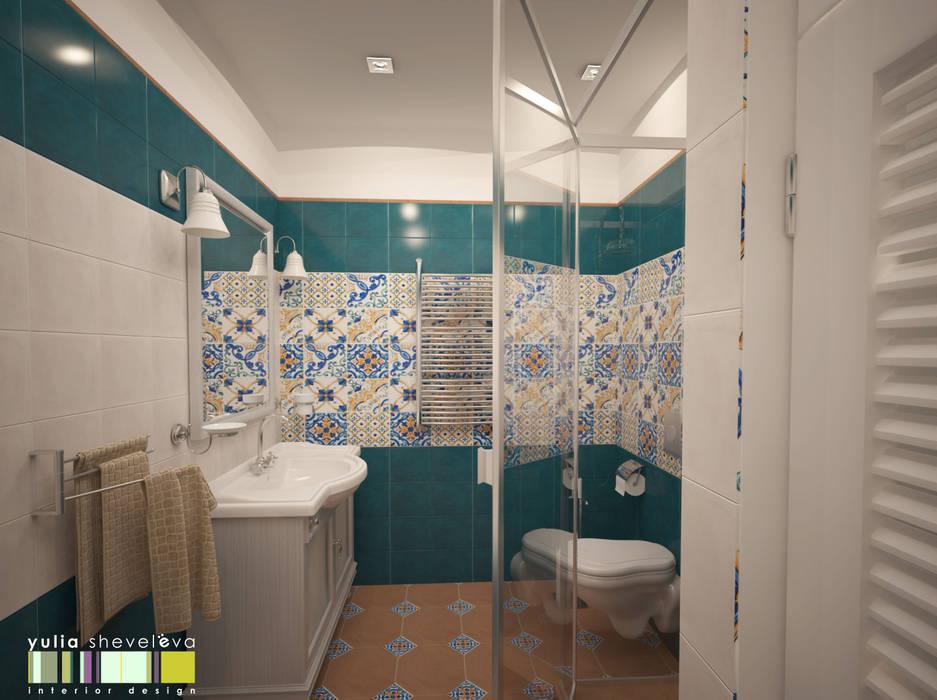 В СТИЛЕ ШЕББИ ШИК : Ванные комнаты в . Автор – Мастерская интерьера Юлии Шевелевой