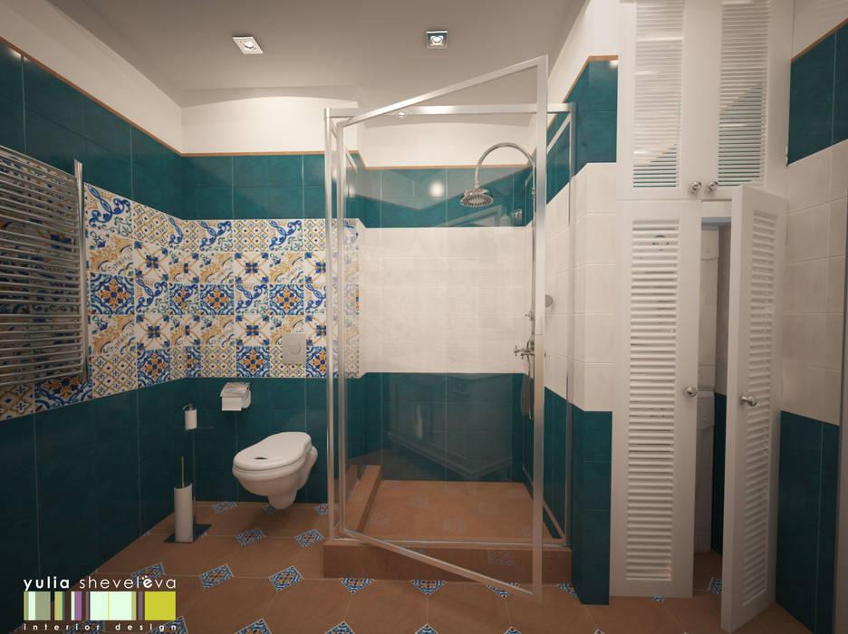 В СТИЛЕ ШЕББИ ШИК : Ванные комнаты в . Автор – Мастерская интерьера Юлии Шевелевой,