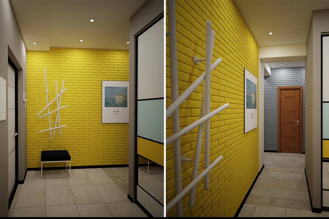 Бюджетный дизайн холла: Коридор и прихожая в . Автор – Burkov Studio