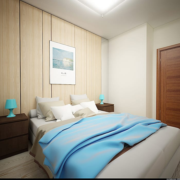 Спальня: Спальни в . Автор – Burkov Studio