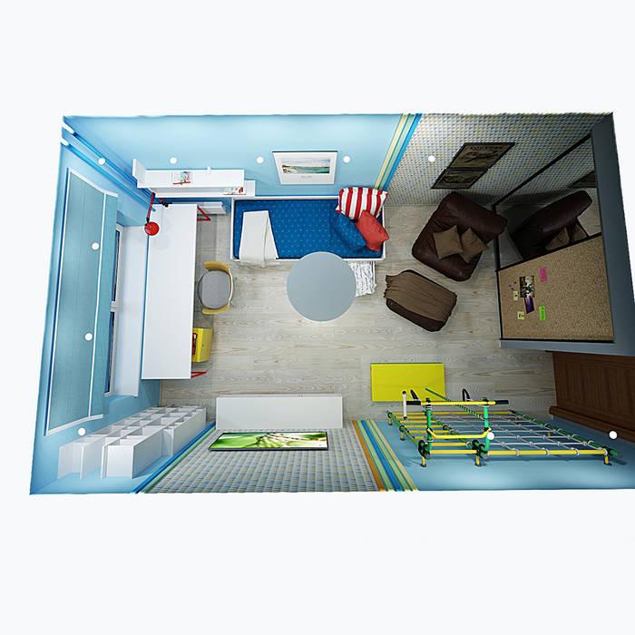 Детская для мальчика: Детские комнаты в . Автор – Burkov Studio,