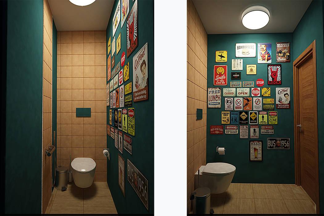 Санузел - бюджетный дизайн: Ванные комнаты в . Автор – Burkov Studio
