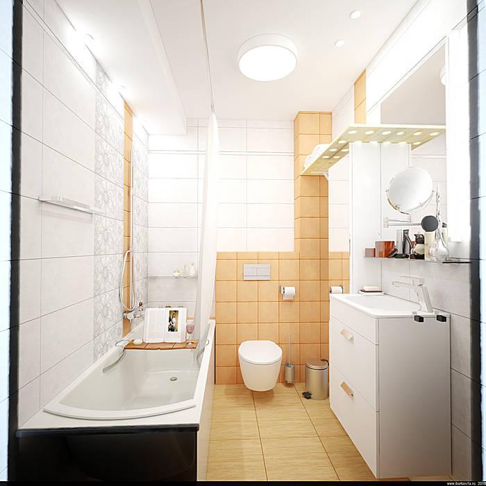 ванная комната: Ванные комнаты в . Автор – Burkov Studio