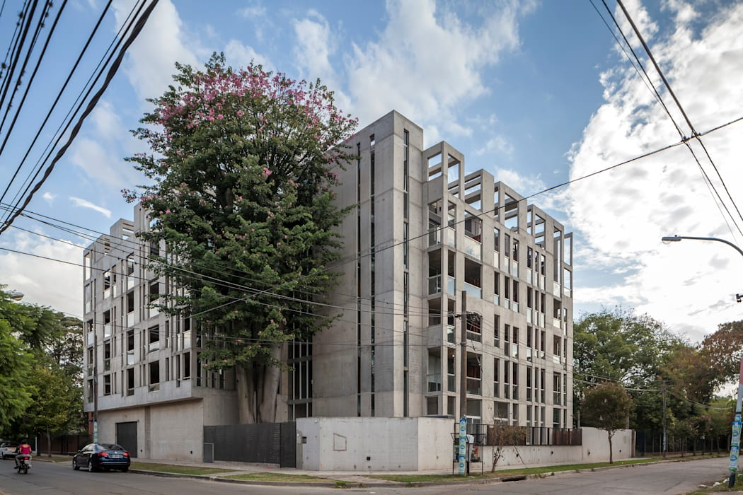根據 Ciudad y Arquitectura 簡約風 水泥