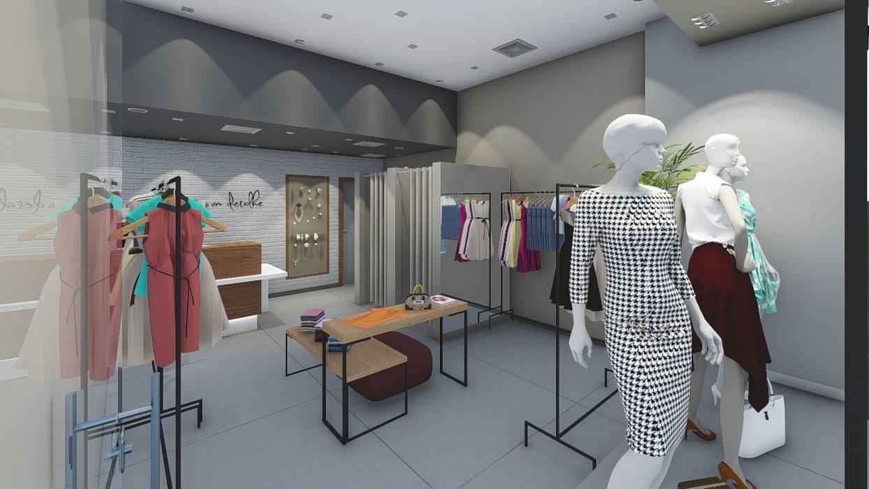 Loja Só Mais Um Detalhe - Shopping Iguatemi Campinas Lojas & Imóveis comerciais mediterrâneos por Whill Barros Arquitetura e Design Mediterrâneo