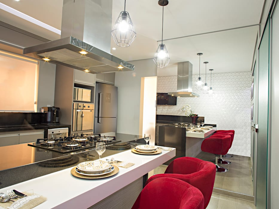 Cozinha Gourmet Cozinhas modernas por Natália Sundfeld Arquitetura Moderno