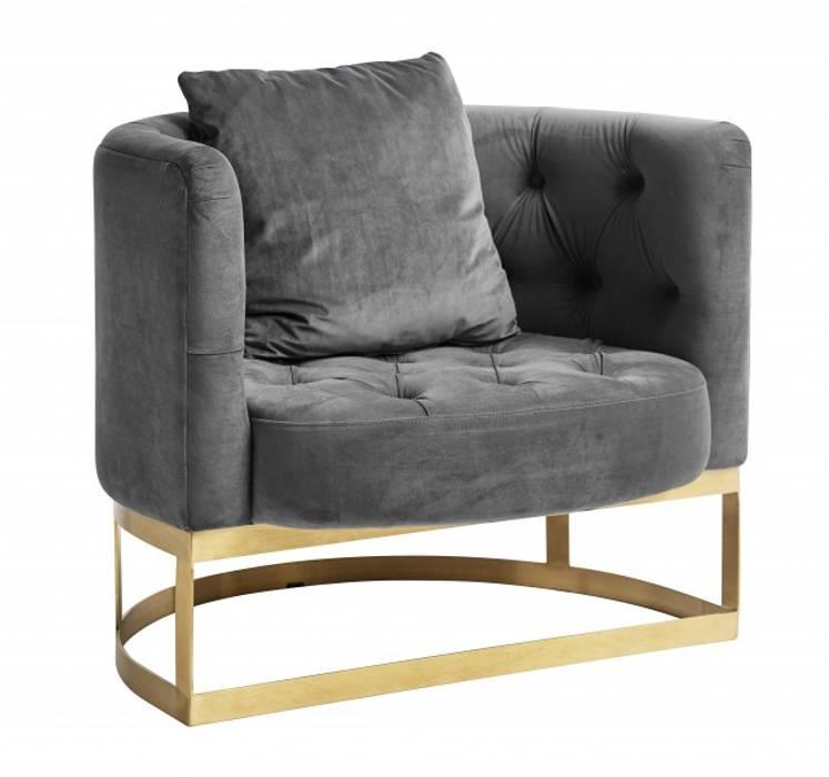 Samt Sessel Industriedesign Grau Wohnzimmer Von Matz Mobel Homify
