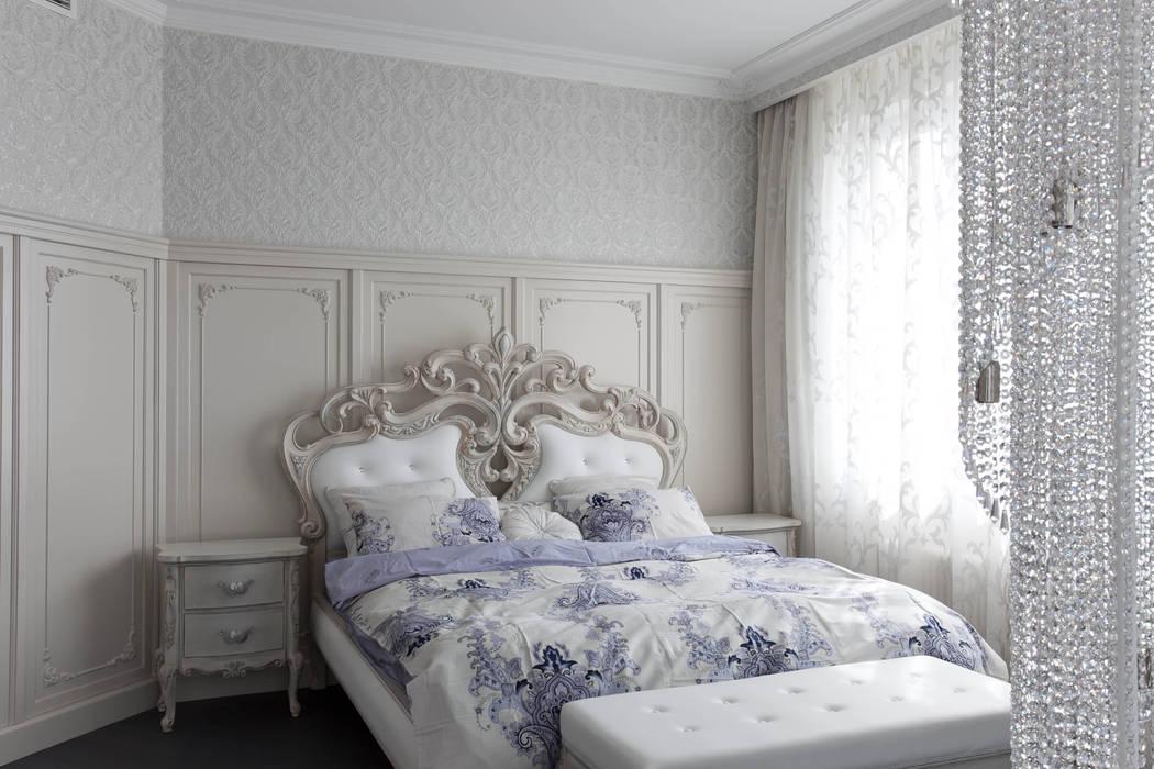 спальня с деревянными буазери : Спальни в . Автор – Givetto Casa